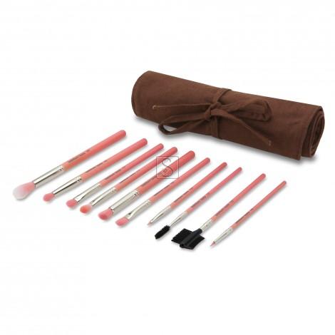 Pink Bambu Eyes Only 10pc. Brush Set