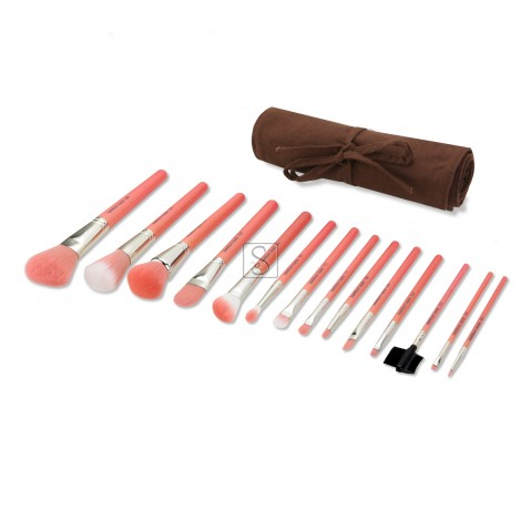 Pink Bambu Complete 14pc. Brush Set