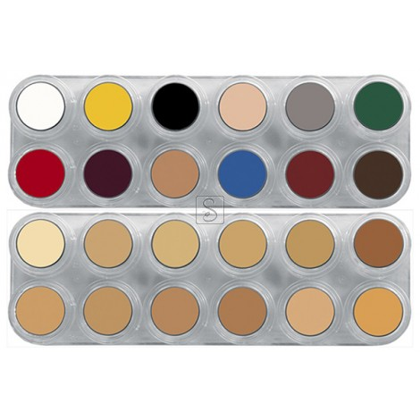 Tavolozza Crème Make up - 12B+12V - 24 colori - Grimas