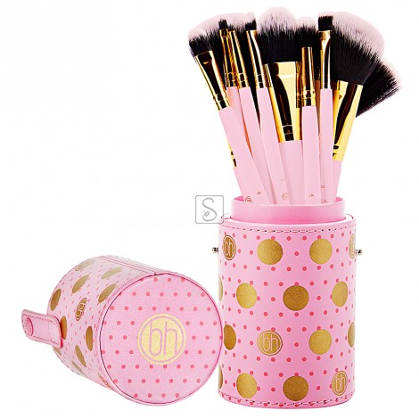 Dot Collection Pink Set 11 pennelli - BH Cosmetics