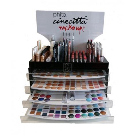 Espositore ovale a cassetti - Cinecittà makeup