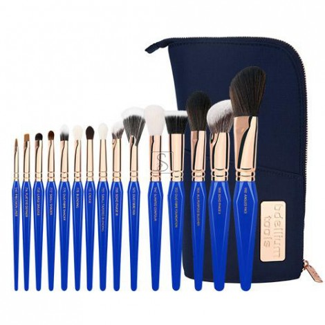 Golden Triangle PHASE III Complete 15pc. Brush Set with Pouch - Bdellium Tools