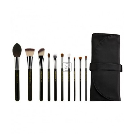 Maestro The Key Essential 10pc. Brush set with Roll-up Pouch