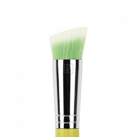 Green Bambu 954 Duet Fiber Slanted Kabuki - Bdellium Tools