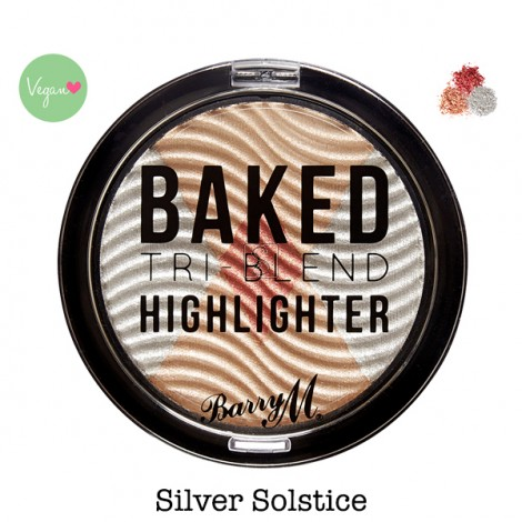 Baked Tri-Blend Highlighters - Silver Solstice