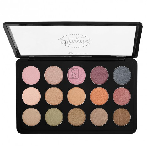 Studio Pro Dual Effect Wet/Dry 15 Color Eyeshadow Palette Universal - BH Cosmetics