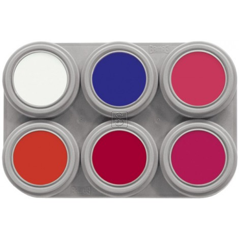 Tavolozza Water Make up Fluor - 6F - 6 colori - Grimas