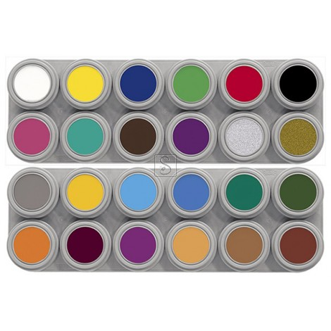 Tavolozza Water Make up - 12A+12B - 24 colori - Grimas