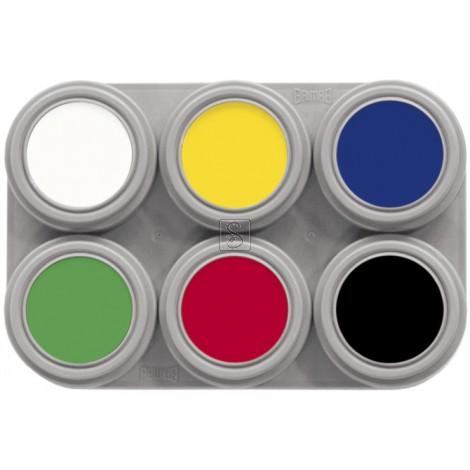 Tavolozza Water Make up - 6 - 6 colori - Grimas