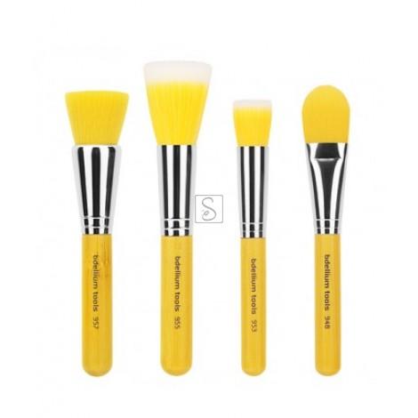 Yellow Bambu Foundation 4pc. Brush Set