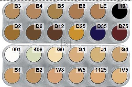 Tavolozza Camouflage Make up - CK - 24 colori