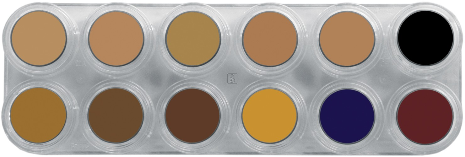 Tavolozza Camouflage Make up - CB - 12 colori - Grimas