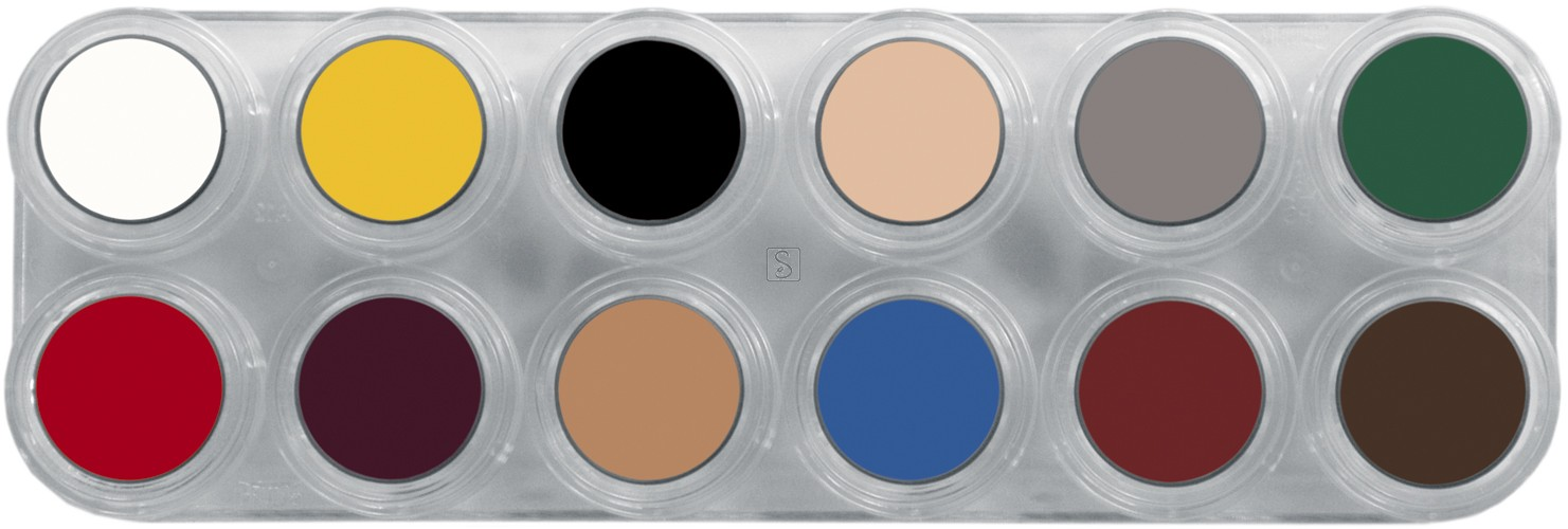 Tavolozza Crème Make up - B - 12 colori - Grimas