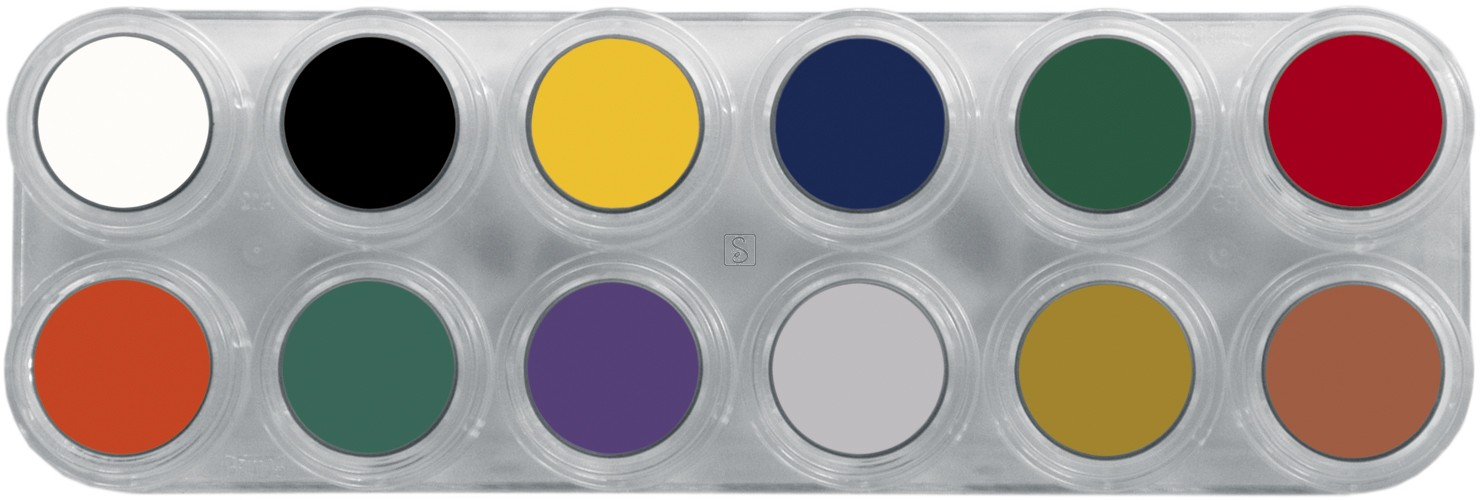 Tavolozza Crème Make up - F - 12 colori - Grimas