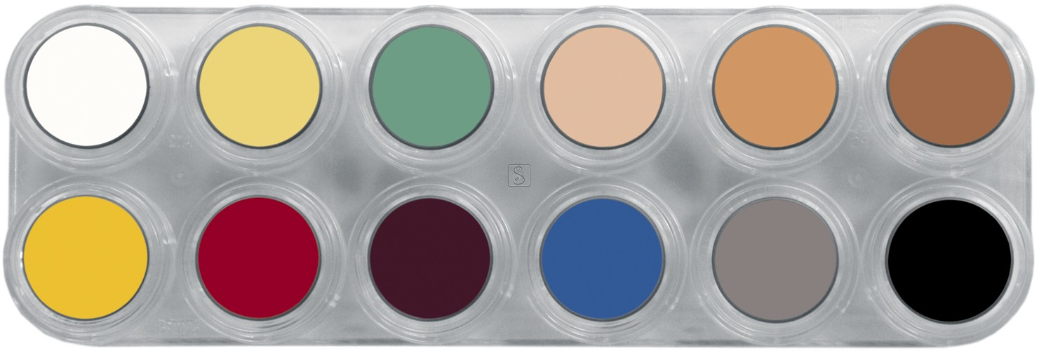 Tavolozza Crème Make up - L - 12 colori - Grimas