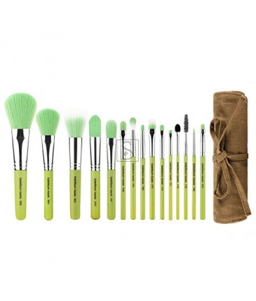 Green Bambu Complete 15pc. Brush Set