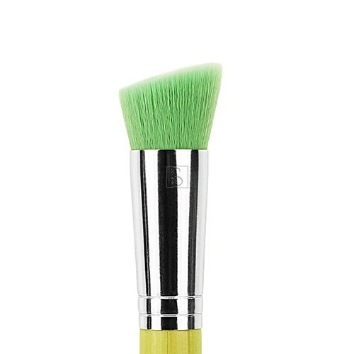 Green Bambu 956 Slanted Precision Kabuki - Bdellium Tools