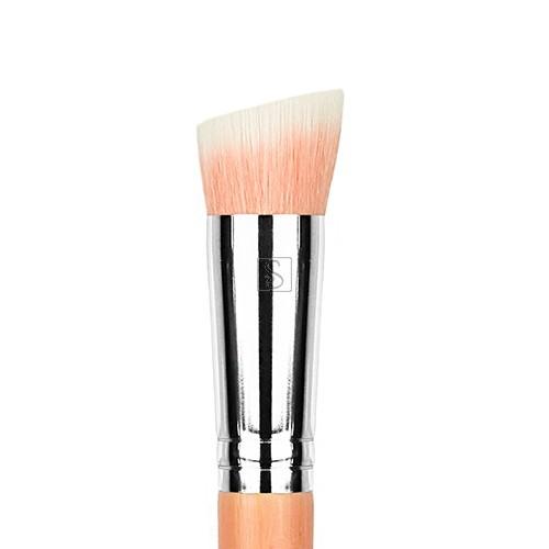 Pink Bambu 954 Duet Fiber Slanted Kabuki - Bdellium Tools