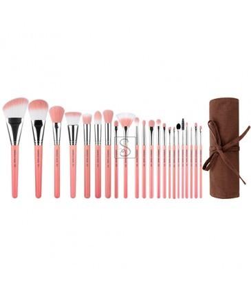 Pink Bambu Deluxe 22pc. Brush Set Confezione