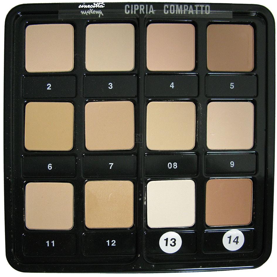 Tavolozza 12 ciprie compatte - Cinecittà make-up