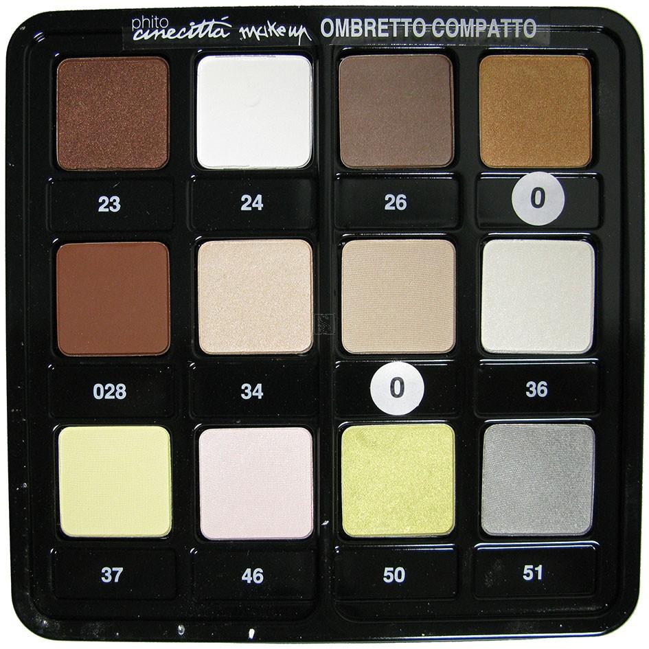 Tavolozza ombretti - 12 colori dal 23 al 51 - Cinecittà make up