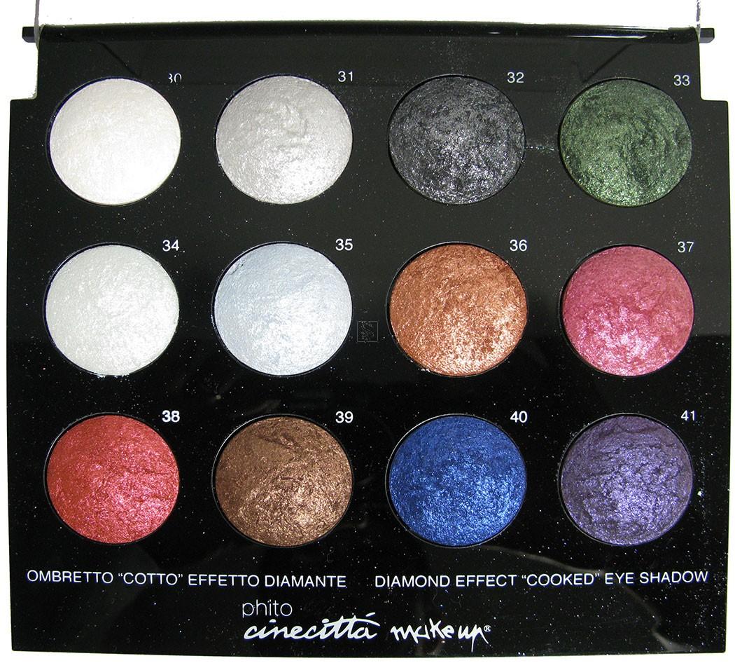 Tavolozze da 12 ombretti cotti effetto diamante - Cinecittà make-up