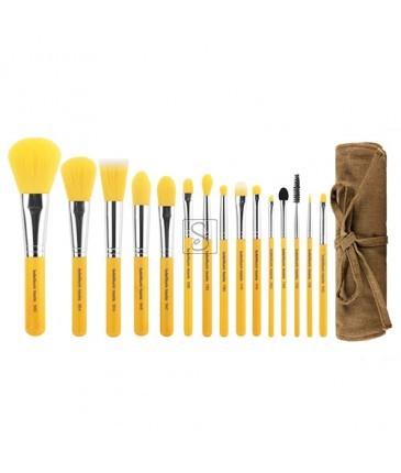 Yellow Bambu Complete 15pc. Brush Set
