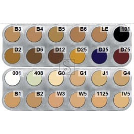 Tavolozza Camouflage Make up - CK - 24 colori