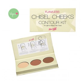 Flawless Chisel Cheeks Contour Kit - Light/Medium - Barry M
