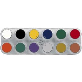 Tavolozza Crème Make up - F - 12 colori - Grimas