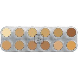 Tavolozza Crème Make up - V - 12 colori - Grimas