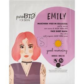 Maschera Viso in Tessuto Emily - Pelle Secca - PuroBio Cosmetics - StockMakeUp