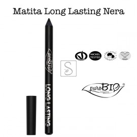 Matita Occhi Long Lasting - Nero Intenso - PuroBio Cosmetics - StockMakeUp
