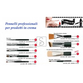 Pennelli professionali per prodotti in crema - Cinecittà Make Up