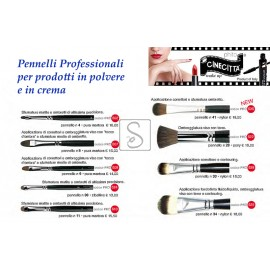 Pennelli professionali per prodotti in polvere e in crema - Cinecittà Make Up