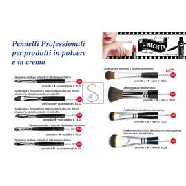 Pennelli professionali per prodotti in polvere e in crema - Cinecittà Make Up