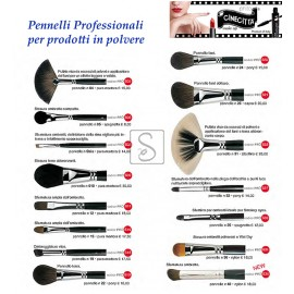 Pennelli professionali per prodotti in polvere - Cinecittà Make Up