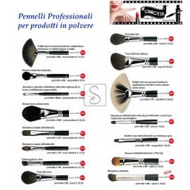 Pennelli professionali per prodotti in polvere - Cinecittà Make Up