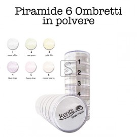 Piramide 6 Ombretti in polvere - Kent's make up