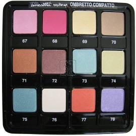 Tavolozza ombretti - 12 colori dal 67 al 78 - Cinecitta make up