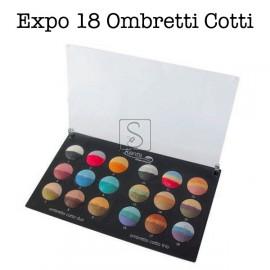 Tavolozza Expo ombretti cotti Kent's - 18 colori
