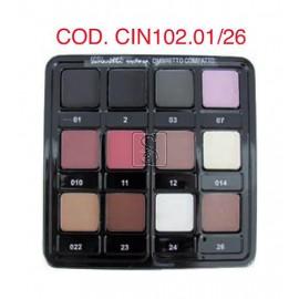 Tavolozza ombretti - 12 colori da 01 a 026 - Cinecittà Make up