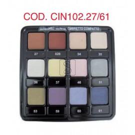 Tavolozza ombretti - 12 colori da 27 a 61 - Cinecittà make up