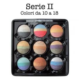 Tavolozza ombretti cotti Kent's - 9 colori da 10 a 18