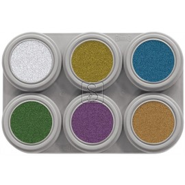 Tavolozza Water Make up Metallic - 6M - 6 colori - Grimas