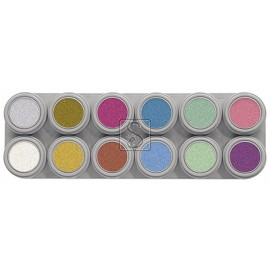 Tavolozza Water Make up Pearl - P12 - 12 colori - Grimas