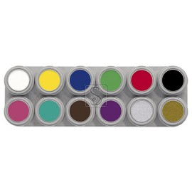 Tavolozza Water Make up - 12A - 12 colori - Grimas