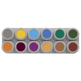 Tavolozza Water Make up - 12B - 12 colori - Grimas