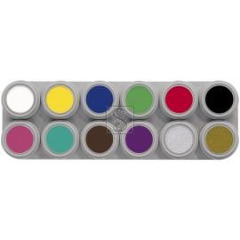 Tavolozza Water Make up - 12A - 12 colori - Grimas