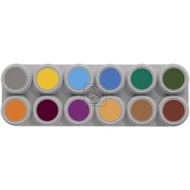 Tavolozza Water Make up - 12B - 12 colori - Grimas